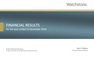 Watchstone 2016 Financial Results Presentation Slide