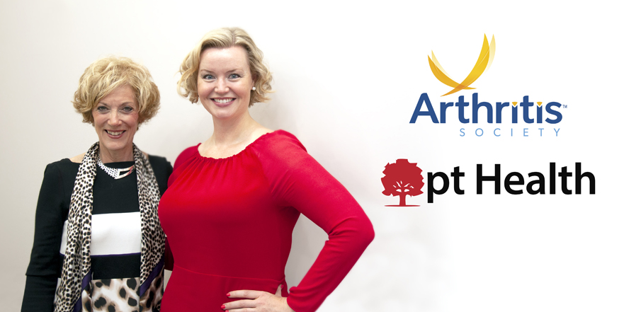 The Arthritis Society and pt Health Partner to Decrease Pain and Improve the Quality of Life for Canadians Living with Arthritis